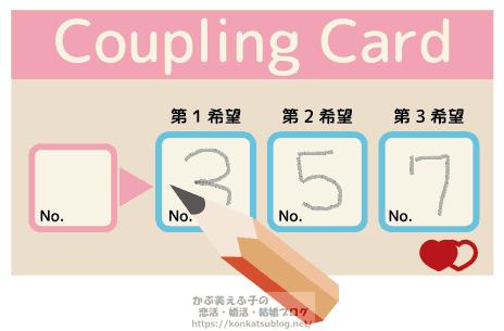カップリングカード 記入