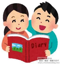 男女 男性 女性 女の子 日記 ダイアリー