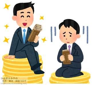 男性 サラリーマン 賃金格差 給料格差 年収格差