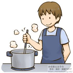 男性 料理 調理