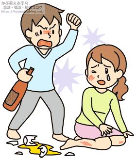 男女 男性 女性 DV 暴力 アル中 アルコール中毒 酔っ払い 夫婦喧嘩