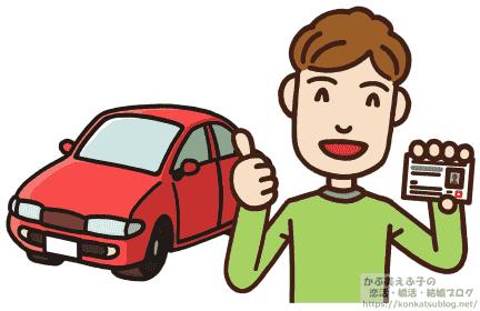 男性 自動車 免許