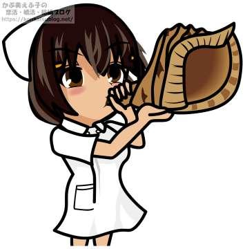ほら貝を吹く 看護師 看護婦 ナース 女性 女の子