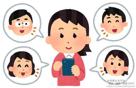 女性 女の子 スマホ スマートフォン SNS グループ