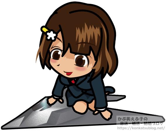 ステルス戦闘機の上に乗る女性 女の子