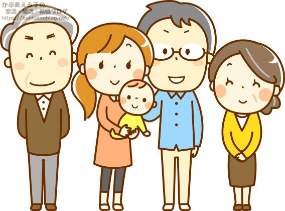 3世代の5人家族
