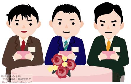 婚活パーティー お見合いパーティー 男性陣 カップリングカード